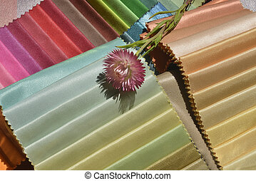 Swatches of fabrics for house decoration