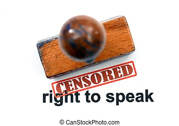 Censored right to speak