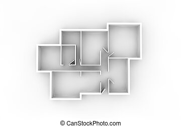floorplan for a typical house or office building from above...