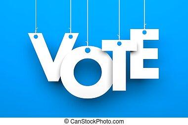 Vote metaphor. Conceptual 3d image
