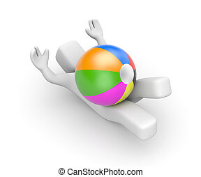 Let's play! Person play with toy ball - Person play with toy...