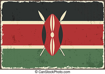 Kenyan grunge flag Vector illustration Grunge effect can be...