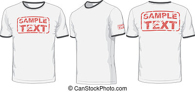 Front, back and side views of t-shirt Vector - Views of...