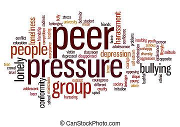 Peer pressure word cloud - Peer pressure concept word cloud...