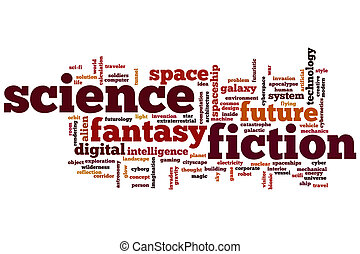 Science fiction word cloud