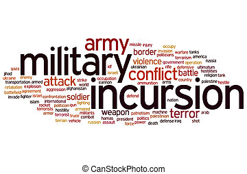 Military incursion word cloud - Military incursion concept...