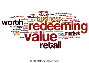 Redeeming value word cloud - Redeeming value concept word...