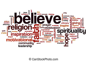 Believe word cloud - Believe concept word cloud background