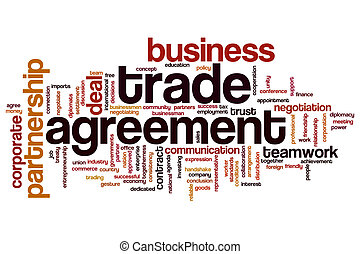 Trade agreement word cloud