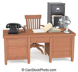 Office space noir. - Classic Film Noir Office.