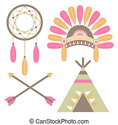 American Indian Set - A set of American Indian themed...