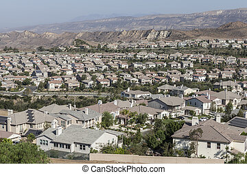 Simi Valley Ventura County California - Neighborhood of...