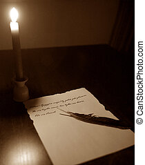 Old letter - An old letter that is written with some candle...