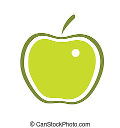 apple - This is a line art illustration of apple