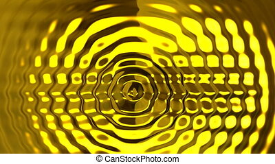 Abstract golden ripples background - Abstract golden glowing...