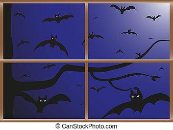 Bats at Your Window - Bats approaching viewed through a...