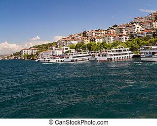 Ferry boat in Bosporus, Istanbul, Turkey