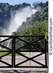 View of Marmore Falls - View entrance of Marmore Falls,...