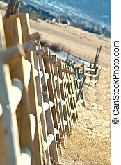 Rustic Fence Line - An image of a rustic fence line located...