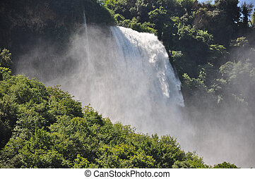 View of Marmore Falls, Umbria, Italy