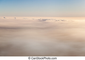 Sea of clouds - a sea of clouds seen from above while flying...