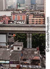 Poor people - The two line Bangkok BTS is a 31 kilometer...