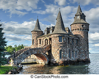 Power House of Boldt Castle, Thousand Islands, New York -...