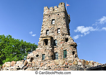 The Alster Tower, Boldt Castle, Thousand Islands, New York....