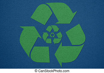 recycle symbol from fabric