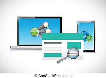 technology web design platforms illustration design over a...
