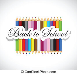back to school colors illustration design