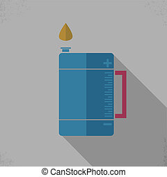 Gallon Oil Icon - Gallon Oil Color Icon, Flat design style...