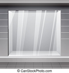 Shop Front Exterior horizontal windows empty for your store...