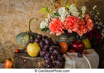 Still life with Fruits - Still life with Fruits were placed...