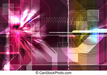 digital background - Digital illustration of digital...