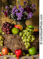 Still life with Fruits. - Still Life Fruits were placed on...