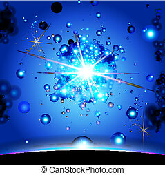 Earth and galaxy Elements of this image furnished vector