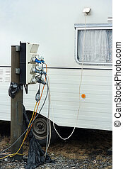 Electrical plugs and sockets - AC power sockets at a camping...