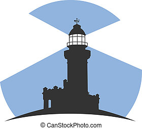 Lighthouse - Colorful lighthouse symbols set isolated on...