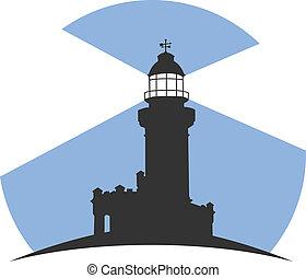 Lighthouse - Colorful lighthouse symbols set isolated on...