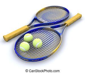 tenis, Raquet, pelotas