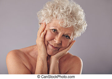 Old woman with beautiful face