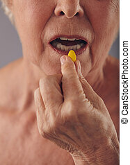 Taking a pill for good health