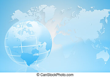 Abstract background with a map of the world