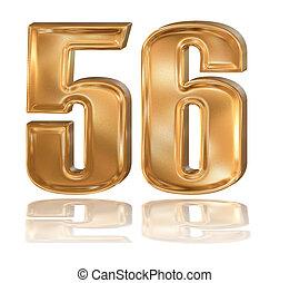 3d golden digit, 5, 6.