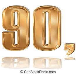 3d golden digit, 9, 0.