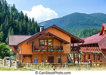 Hotel, Carpatian, Berge, Ukraine