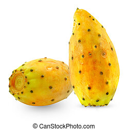 prickly pear  - ripe prickly pear on a white background