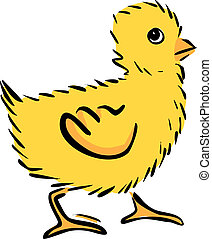 chicken - Cartoon funny chicken isolated on white Vector...