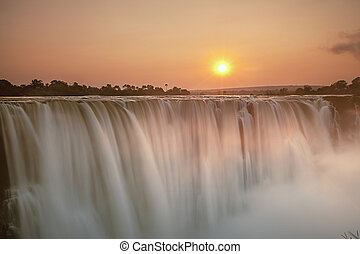 Morning Glow at Vic Falls